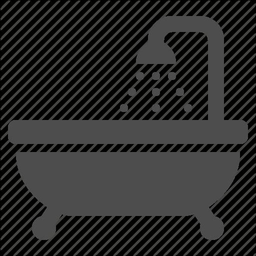 Bath, Bathroom, Bathtub, Drops, Shower, Tub, Water Icon