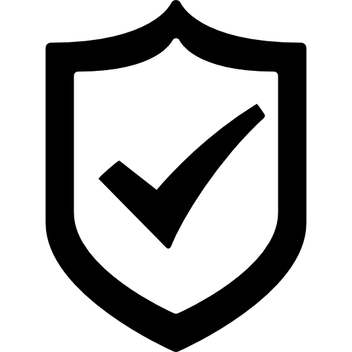 Protection Shield With A Check Mark