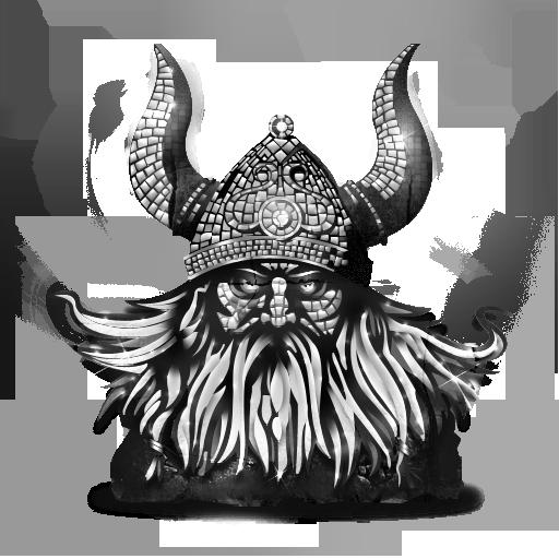 Grey Viking Icon