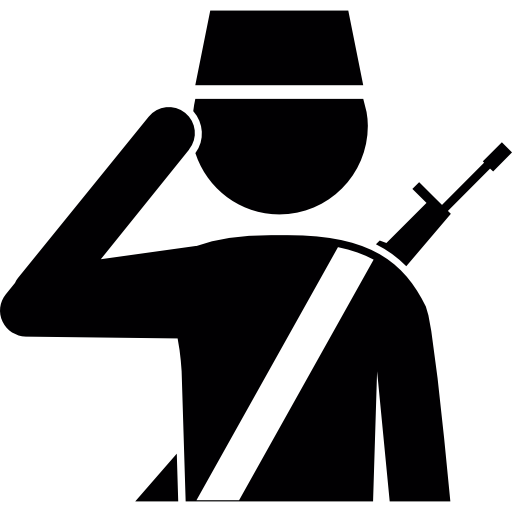 Soldier Salute Icons Free Download
