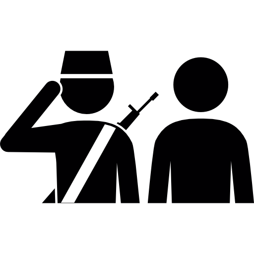 A Soldier And A Civilian Icons Free Download