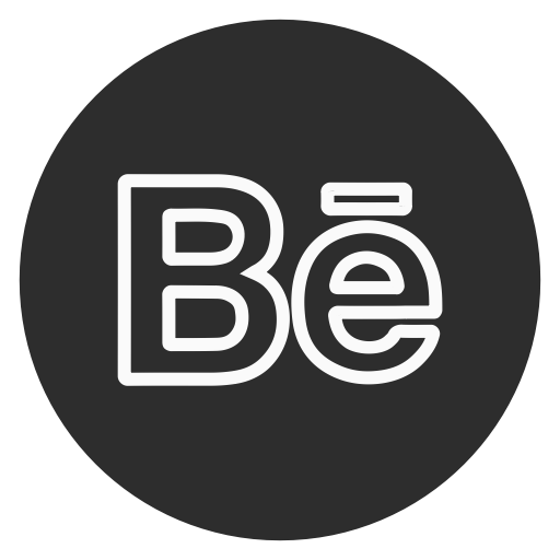 Behance, Circle, Outline, Social Media Icon