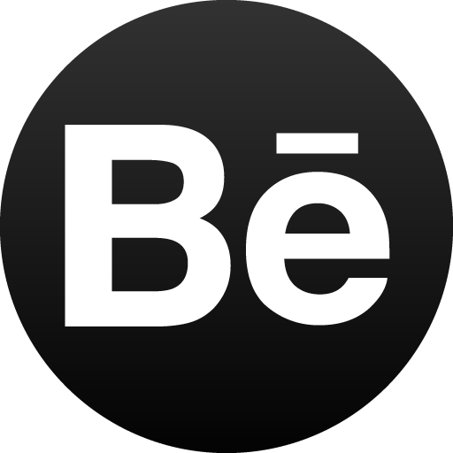 Behance Black Circle Icon