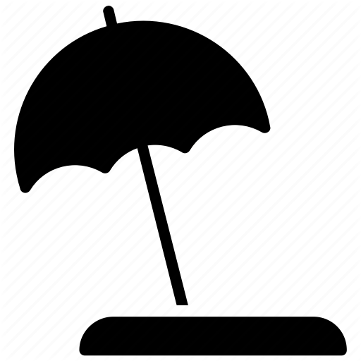 Beach, Beach Umbrella, Hawaii Beach, Sunshade, Umbrella Icon