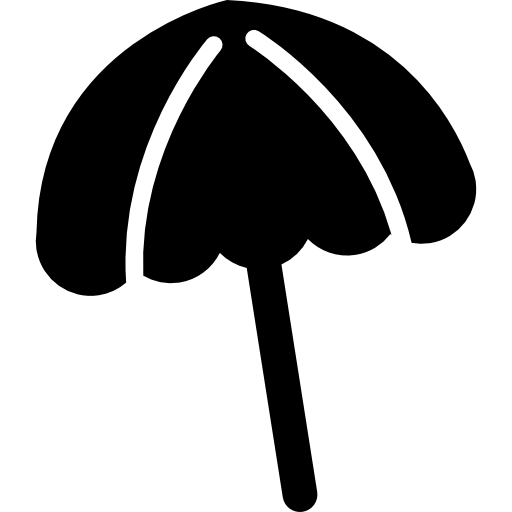 Black Beach Umbrella Icons Free Download