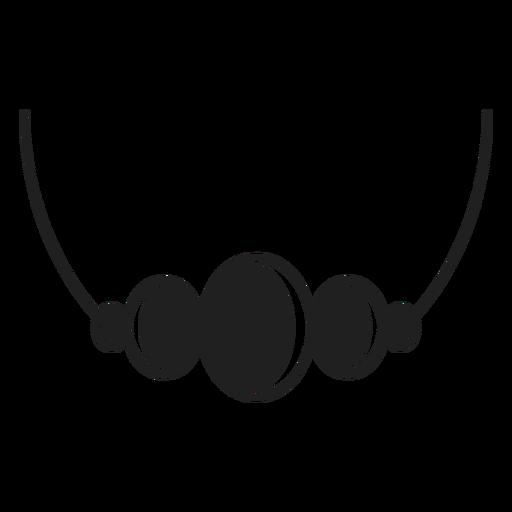 Bead Pendant Black Icon