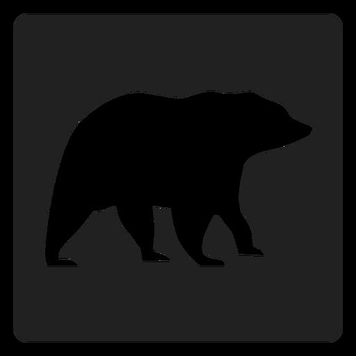 Simple Bear Square Icon