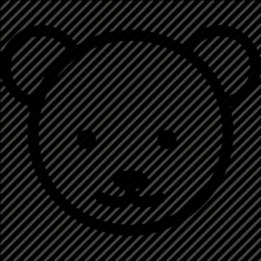 Animal, Bear, Bear Face, Bear's Face, Wild Icon
