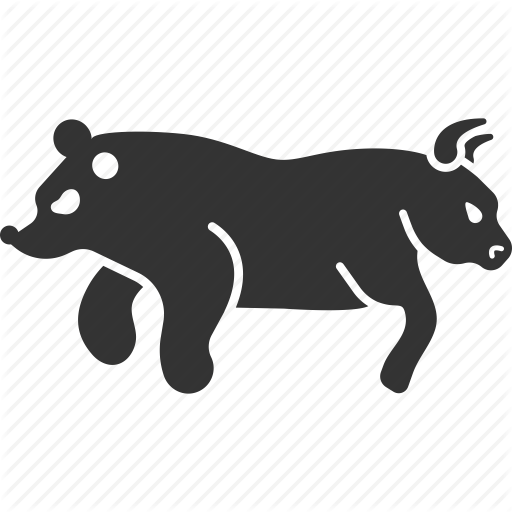 Bear, Bull, Directions, Stock Market, Trader, Traders, Trends Icon