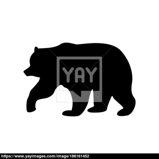 Bear Black Color Icon Vector