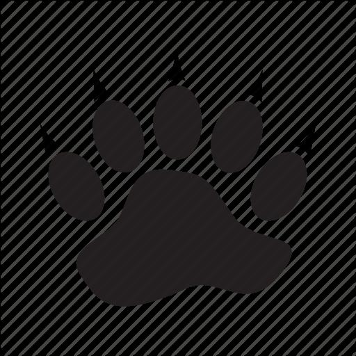 Animal, Bear, Footprint, Icons, Pawprint Icon