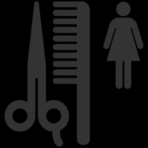 Simple Dark Gray Aiga Beauty Salon Icon