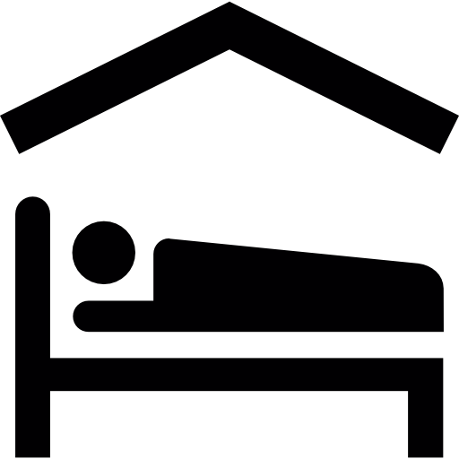 Person Lying On Bed Inside A Home