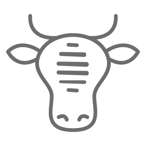 Cow Beef Stroke Icon