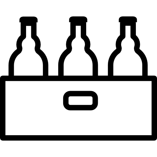 Beer Bottles Crate Outline Icons Free Download