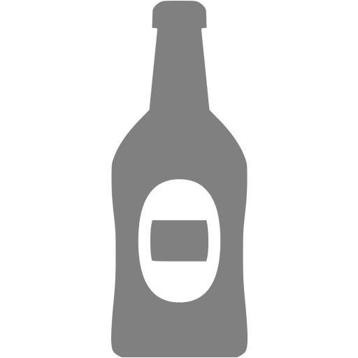 Gray Beer Bottle Icon