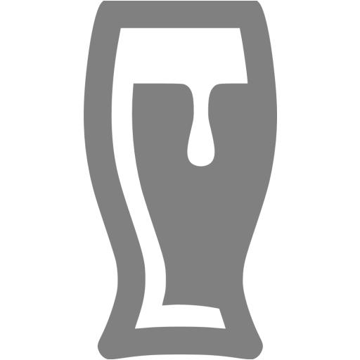 Gray Beer Glass Icon