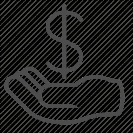 Begging, Bribe, Donation, Hand, Loan, Money Icon