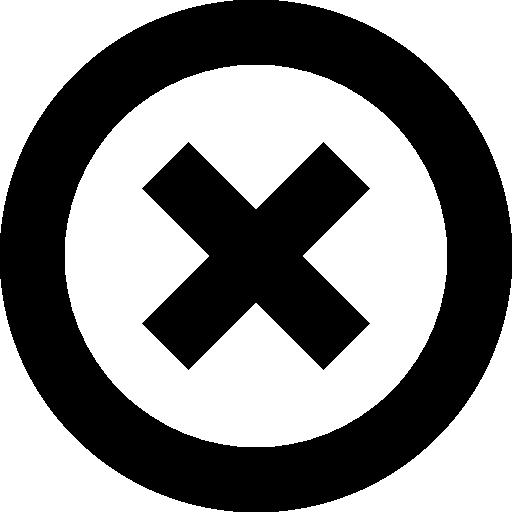 Cross Close Or Delete Circular Interface Button Symbol Icons