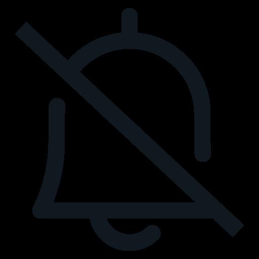 Bell, Mute, Notification, Notify, Ring Icon Free Of Basic Ui