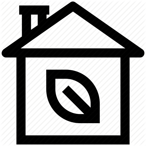 Eco House, Glasshouse, Green House, House, Leaf Icon