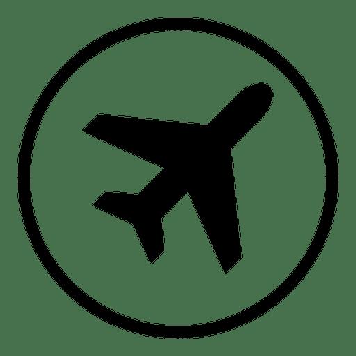 Plane Airport Round Icon