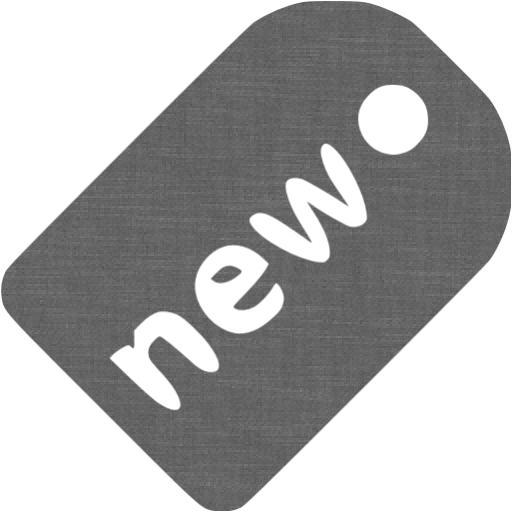 Grey Wall New Badge Icon