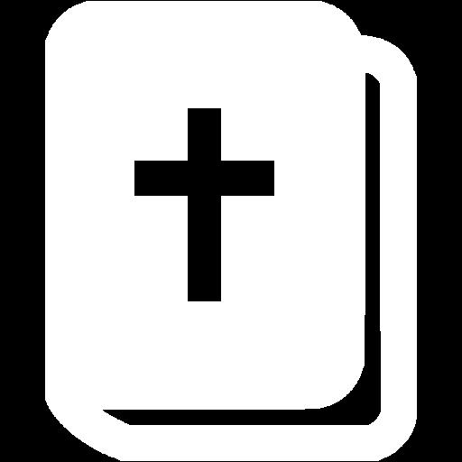 White Holy Bible Icon