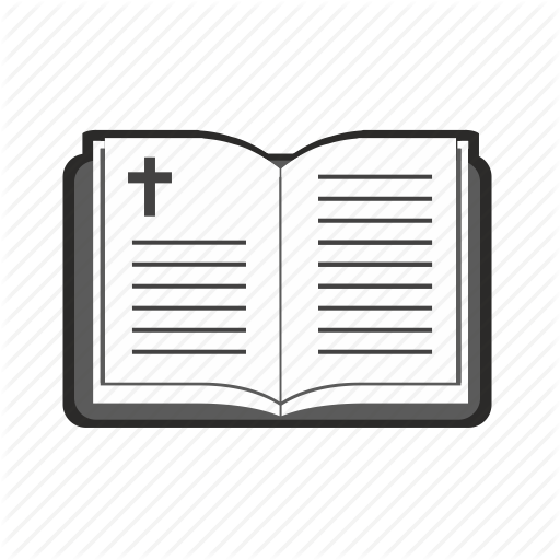 Bible, Book, Opened, Religion, Text Icon
