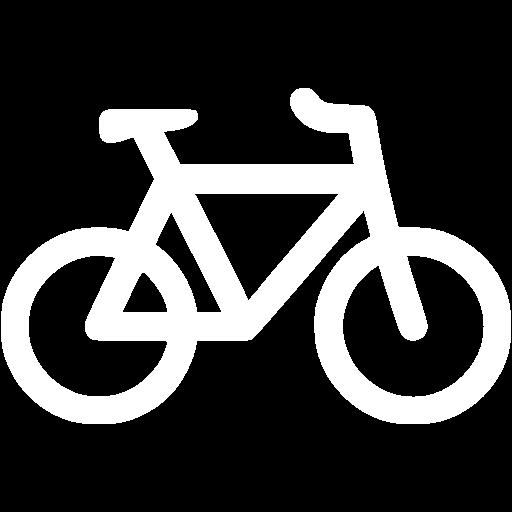 White Bicycle Icon