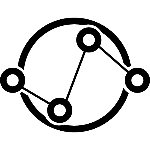 Data Analytics Interface Symbol Of Connected Circles Icons Free