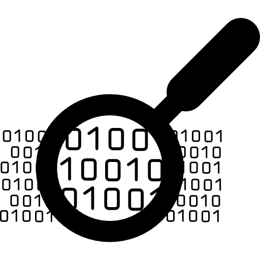 Binary Data Search Symbol Icons Free Download