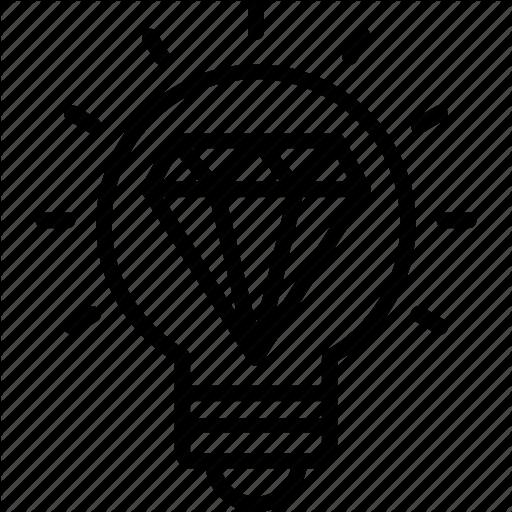Big Idea, Diamond Inside Light Bulb, Excellent Idea, Great Idea