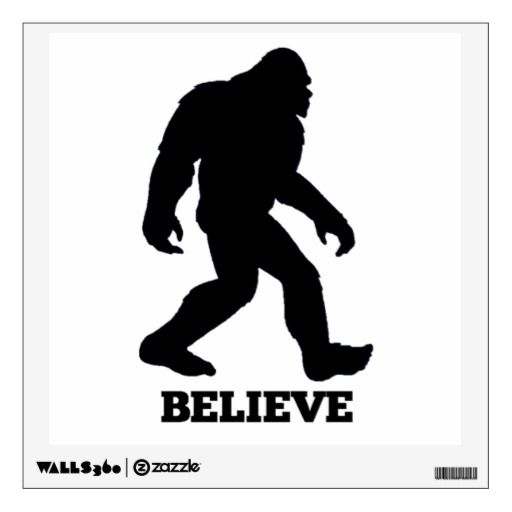 Bigfoot Believe Wall Decal! Sasquatch Wall Sticker Bigfoot