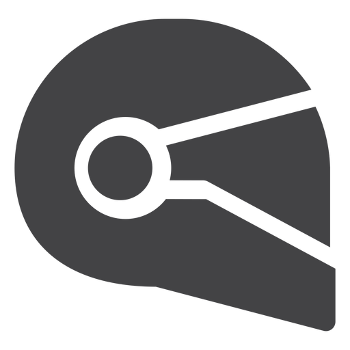 Motorcycle Helmet Flat Icon