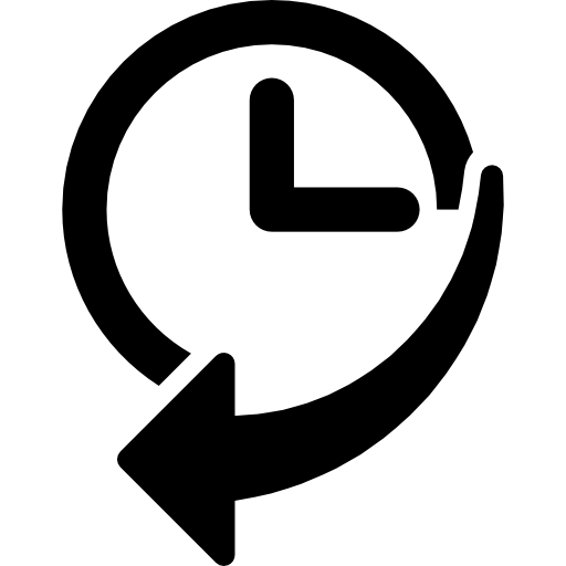 Navigation History Interface Symbol Of A Clock With An Arrow Icons