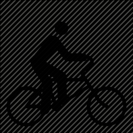 Bicycle, Bicyclist, Bike, Bike Lane, Cycle, Cyclist, Man Icon