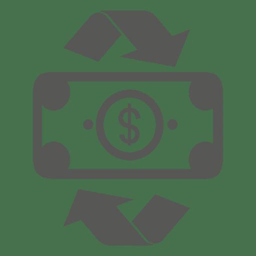 Recycling Dollar Bill Icon