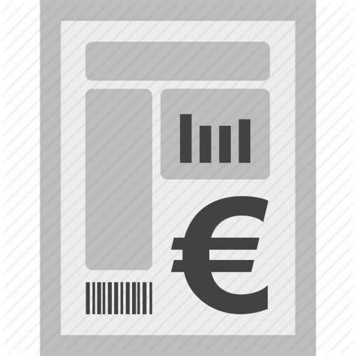 Bill, Charges, Currency, Euro, Invoice, Payment Icon