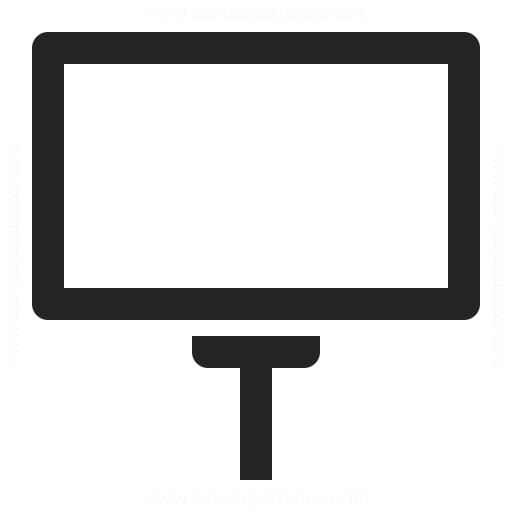 Billboard Empty Icon Iconexperience