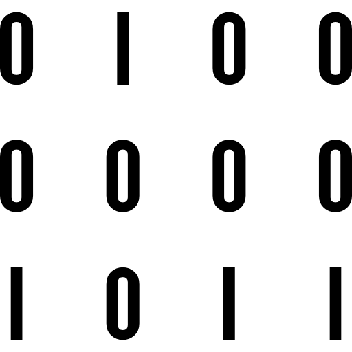Binary Data Numbers Icons Free Download