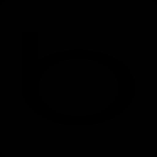 Bing Glyph Black Icon
