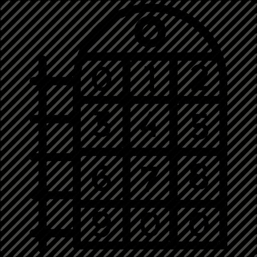 Bingo Game, Bingo Numbers, Chance Game, Gambling, Lotto Ticket Icon