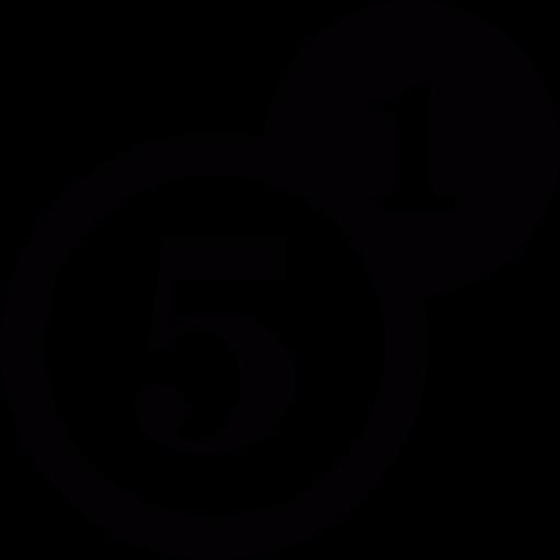 Number, Coins, Bingo Icon