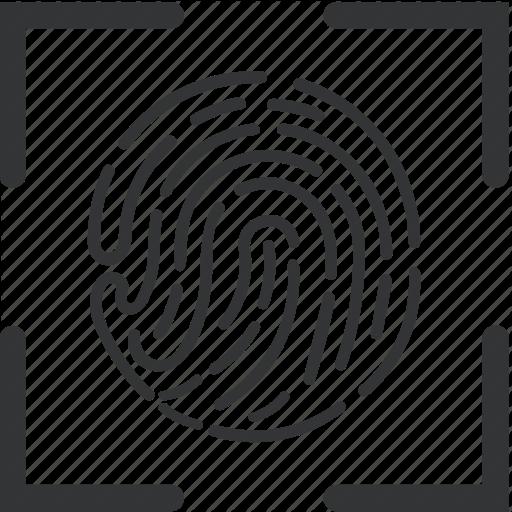 Biometric, Fingerprint, Recognition, Scan Icon