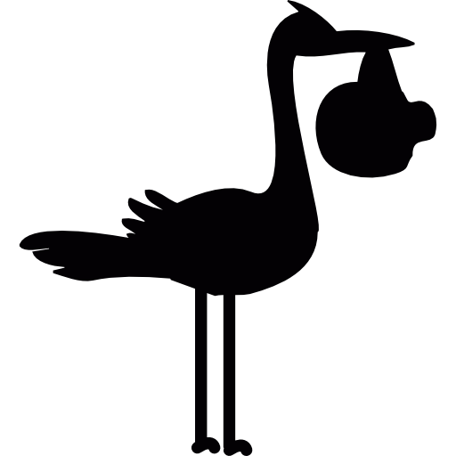 Birth, Baby, Stork Icon