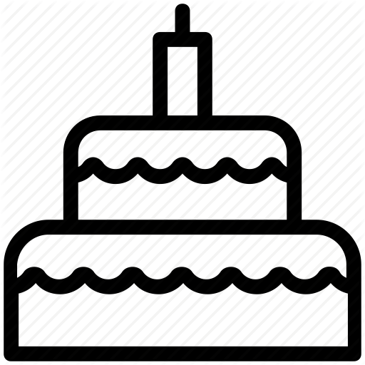 Birthday Cake, Cake, Dessert, Food, Party Cake Icon