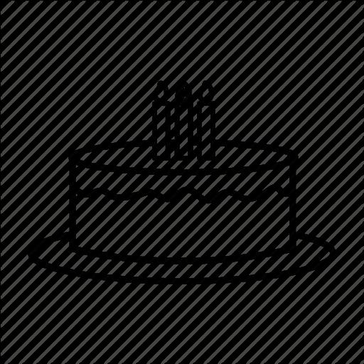 Birthday, Cake, Candles, Celebrating, Presents, Tart Icon