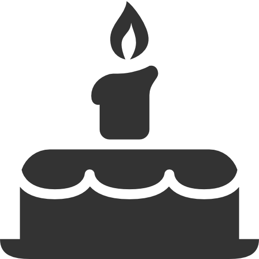 Birthday, Cake, Cupcake, Food Icon