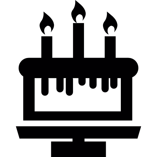 Birthday Cake With Three Candles Icon Celebrations Freepik